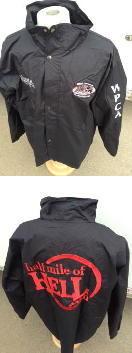 Mens and Ladies Black Soft Shell Race Jacket